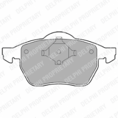 Brake pads front 288 x 25mm No Wear Indicator